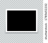 empty photo frame mock up with...   Shutterstock .eps vector #1785652232