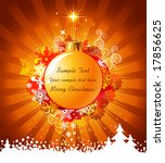 Christmas background with decorations / vector / with copy space for your text - stock vector
