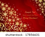 Christmas background / with snowflakes and ornament / vector - stock vector