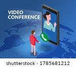 online meeting video conference ...   Shutterstock .eps vector #1785681212