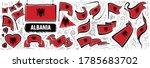 vector set of the national flag ... | Shutterstock .eps vector #1785683702