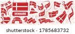 vector set of the national flag ... | Shutterstock .eps vector #1785683732