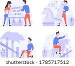 vector illustration flat design ... | Shutterstock .eps vector #1785717512