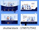 landing page vector...   Shutterstock .eps vector #1785717542