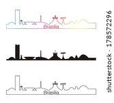 brasilia skyline linear style... | Shutterstock .eps vector #178572296