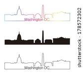 washington dc skyline linear...   Shutterstock .eps vector #178572302
