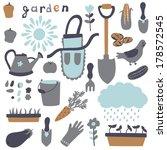 Vector Set Of Garden Elements ...