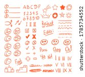 handdrawn red pen test result...   Shutterstock .eps vector #1785734552