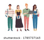 vector group of multicultural... | Shutterstock .eps vector #1785737165