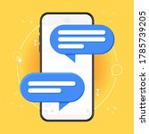 mobile phone chat notification... | Shutterstock .eps vector #1785739205