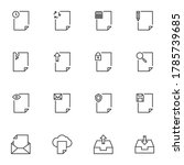documents line icons set ...