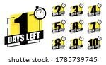 countdown of days 1 2 3 4 5 6 7 ... | Shutterstock .eps vector #1785739745