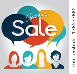 group of people with sale... | Shutterstock .eps vector #178577882