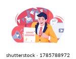 advertiser illustration. vector ... | Shutterstock .eps vector #1785788972
