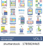 merchandising icons including... | Shutterstock .eps vector #1785824465