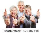 Three Happy Senior People...