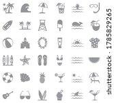 beach icons. gray flat design.... | Shutterstock .eps vector #1785829265