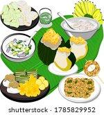 thai dessert set  khanom thai ...   Shutterstock .eps vector #1785829952