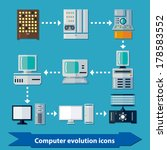 icons with computer evolution...