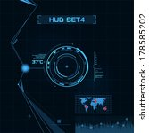 hud and gui set. futuristic... | Shutterstock .eps vector #178585202