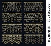 set of golden seamless borders  ... | Shutterstock .eps vector #1785852038