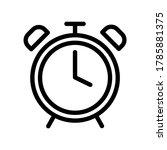 alarm clock icon  vector icon...
