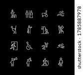 set of people  sign  gesture... | Shutterstock . vector #1785887978