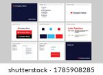 corporate identity template set.... | Shutterstock .eps vector #1785908285