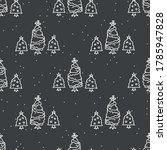 seamless three christmas tree... | Shutterstock .eps vector #1785947828