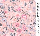 cartoon botanical seamless... | Shutterstock .eps vector #1785959738