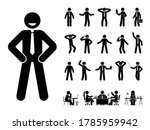 Stick Figure Office Man...