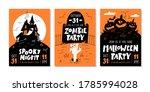vector set of halloween party...   Shutterstock .eps vector #1785994028