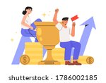 concept of teamwork  career... | Shutterstock .eps vector #1786002185