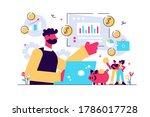 finance analyst. business... | Shutterstock .eps vector #1786017728
