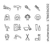 hair salon vector icons set....