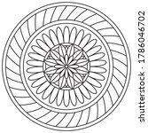 simple mandala shape for... | Shutterstock .eps vector #1786046702