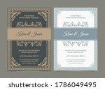 invitation card vector design... | Shutterstock .eps vector #1786049495