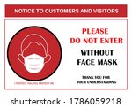 wear face mask sign for... | Shutterstock .eps vector #1786059218