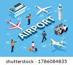 isometric flowchart with... | Shutterstock .eps vector #1786084835