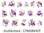 chatbot messenger ai... | Shutterstock .eps vector #1786086425