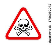 triangular red warning hazard... | Shutterstock .eps vector #1786092092