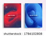 cover design with red and blue... | Shutterstock .eps vector #1786102808