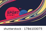 sport event poster design with... | Shutterstock .eps vector #1786103075
