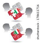 italian lessons dialog two... | Shutterstock .eps vector #178611716