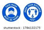 set of circular measure warning ...   Shutterstock .eps vector #1786132175