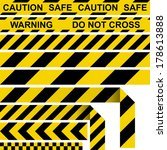 barrier tape. restrictive tape... | Shutterstock .eps vector #178613888