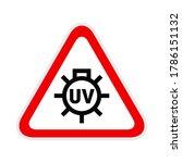 triangular red warning hazard... | Shutterstock .eps vector #1786151132