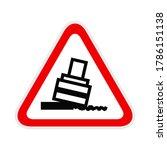 triangular red warning hazard... | Shutterstock .eps vector #1786151138
