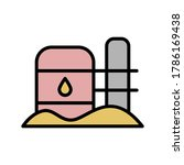 oil can  desert icon. simple...