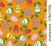 pattern easter colored eggs | Shutterstock .eps vector #178617356